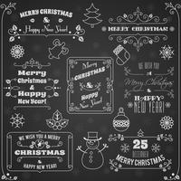 Set di lavagna etichette di Natale