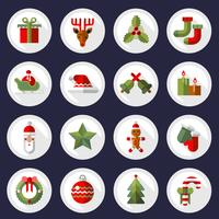 Set di pulsanti di icone di Natale