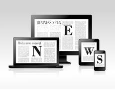 Concetto di notizie di media vettore