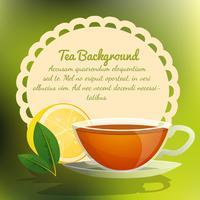 Sfondo tazza di tè vettore