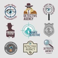 Set di etichette Detective vettore
