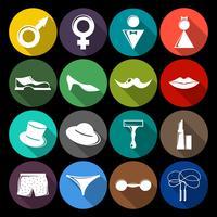 Icone di genere piatte