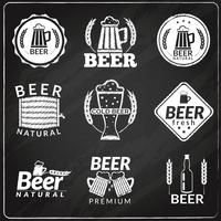 Emblemi di lavagna di birra vettore