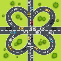 Illustrazione del traffico autostradale