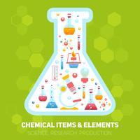 Composizione di infographics di chimica vettore