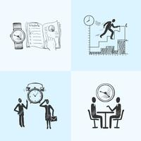 Schizzo di composizione per la gestione del tempo vettore
