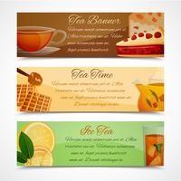 Set di banner di tè vettore