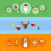 Set di banner di Natale vettore