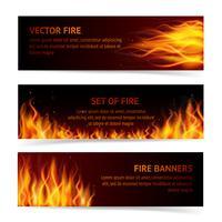 Set di banner fiamma