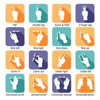 icone di gesti dell'interfaccia touch