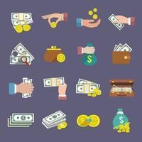 Icona di denaro piatta