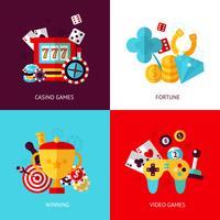 Set di giochi vettore