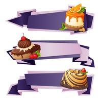 Striscioni di carta di dolci vettore