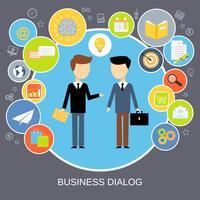 Concetto di dialogo aziendale vettore