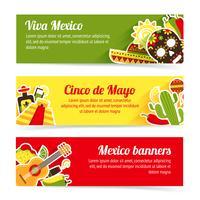 Set di banner del Messico vettore