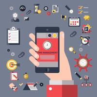 Gestione del tempo mobile vettore
