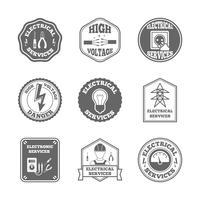 Set di etichette di elettricità