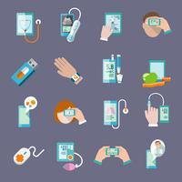 Le icone di salute mobili sono impostate in orizzontale