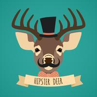 Ritratto di animali hipster vettore