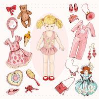 Set di accessori personaggio bambina