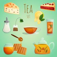 Set decorativo da tè vettore