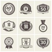 Set di etichette anniversario