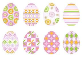 Pacchetto di vettore di uova di Pasqua funky