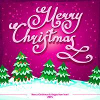 Modello di cartolina di Natale