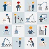Icone di ingegneria piatte