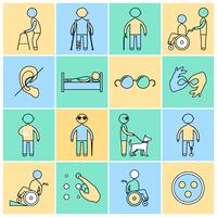 Le icone disabili hanno impostato la linea piatta
