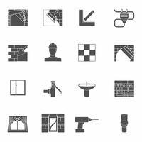 Set di icone di riparazione a casa vettore