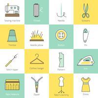Icone dell'attrezzatura per cucire