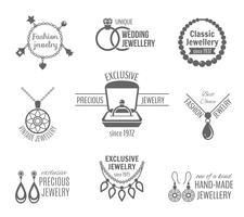 Set di etichette di gioielli vettore