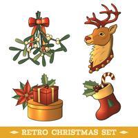 Set di icone colorate di Natale