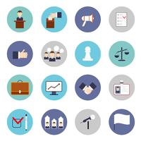 Set di icone di elezioni piatte