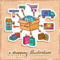Concetto di design e-commerce