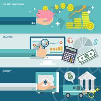 Set di banner di servizio bancario