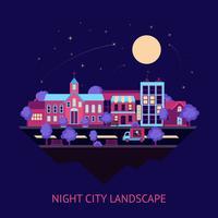 Priorità bassa di notte di scape della città
