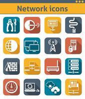 Set di icone di rete vettore