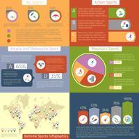Infografica sport estremi vettore
