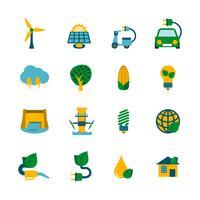 Set di icone di energia eco