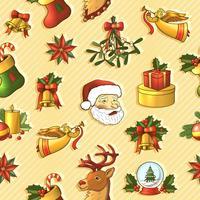 Reticolo senza giunte di Natale vettore