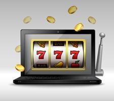 Concetto di gioco d'azzardo online vettore