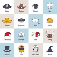Icone Hat Flat Line