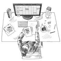 Posto di lavoro contabile vettore