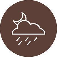 Icona di vettore di pioggia di notte