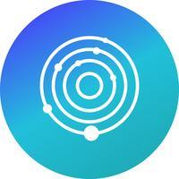 Icona del sistema solare vettoriale
