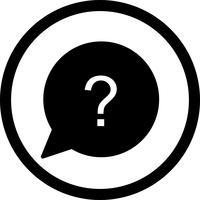 Icona domanda vettoriale