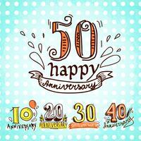 Set di segni di anniversario