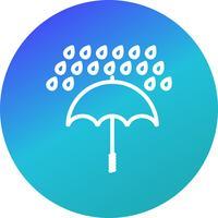Icona di vettore di ombrello e pioggia